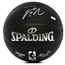 Damian Lillard Signed NBA Arena Series Black Basketball (Panini COA)