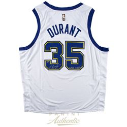"""Kevin Durant Signed LE Golden State Warriors Nike Hardwood Classics Jersey Inscribed """"NBA Champs"""" (P"""