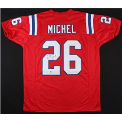 Sony Michel Signed New England Patriots Jersey (Beckett COA)