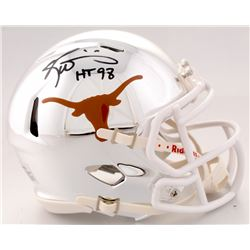 "Ricky Williams Signed Texas Longhorns Chrome Mini Helmet Inscribed ""HT 98"" (JSA COA)"