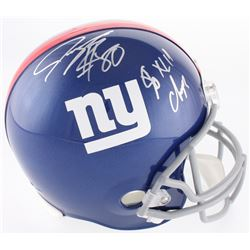 "Jeremy Shockey Signed New York Giants Full-Size Helmet Inscribed ""SB XLII Champs"" (Beckett COA)"