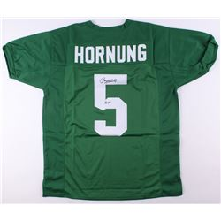 "Paul Hornung Signed Notre Dame Fighting Irish Jersey Inscribed ""56 H"" (JSA COA)"