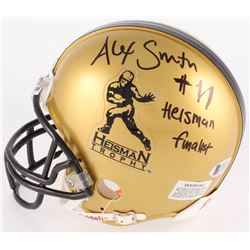 "Alex Smith Signed Heisman Trophy Mini Helmet Inscribed "" Heisman Finalist"" (Beckett COA)"