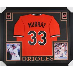 "Eddie Murray Signed Baltimore Orioles 35x43 Custom Framed Jersey Inscribed ""HOF 2003"" (JSA COA)"