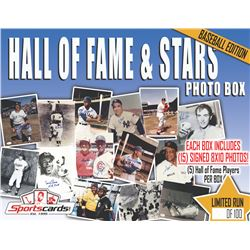 """HALL OF FAME  STARS"" Baseball Mystery Signed Photo Box **15 Per Box!**"