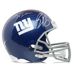 "Saquon Barkley Signed New York Giants Full-Size Helmet Inscribed ""Go Big Blue!"" (Panini COA)"