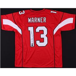 "Kurt Warner Signed Arizona Cardinals Jersey Inscribed ""HOF 17"" (Radtke COA  Warner Hologram)"