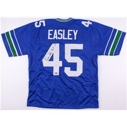 "Kenny Easley Signed Seattle Seahawks Jersey Inscribed ""HOF '17"" (Radtke COA)"