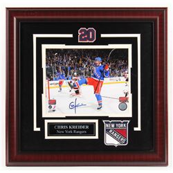 Chris Kreider Signed New York Rangers 18.5x19 Custom Framed Photo Display (Your Sports Memorabilia H