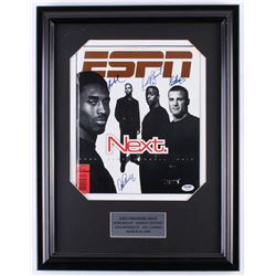 1998 ESPN Magazine 16.5x21.5 Custom Framed Magazine Display Signed by (4) With Kobe Bryant, Eric Lin