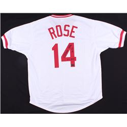 "Pete Rose Signed Cincinnati Reds Jersey Inscribed ""63 ROY"" (Radtke COA)"
