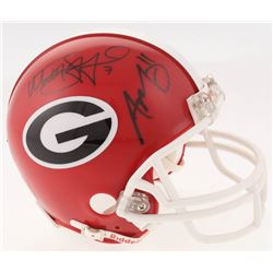 Aaron Murray  Matthew Stafford Signed Georgia Bulldogs Mini-Helmet (Radtke COA  Stafford Hologram)