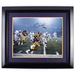 "Eric Dickerson Signed Los Angeles Rams 25x29 Custom Framed Photo Display Inscribed ""HOF 99"" (JSA Hol"