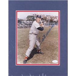 Ted Williams Signed Boston Red Sox 11x14 Custom Matted Photo Display (JSA LOA)