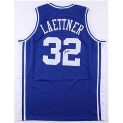 """Christian Laettner Signed Duke Blue Devils """"The Shot"""" Jersey (JSA COA)"""