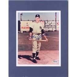 """Mickey Mantle Signed New York Yankees 11x14 Custom Matted Photo Display Inscribed """"1951"""" (SGC Hologr"""