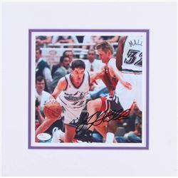 John Stockton Signed Utah Jazz 12.5x12.5 Custom Matted Photo Display (JSA COA)