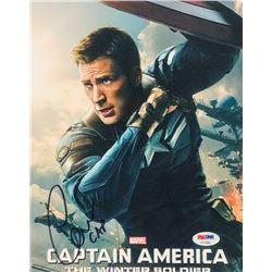 "Chris Evans Signed ""Captain America"" 8x10 Photo Inscribed ""Cap"" (PSA COA)"