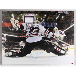 Scott Darling Signed Chicago Blackhawks 30x40 Photo on Canvas (Darling Hologram)