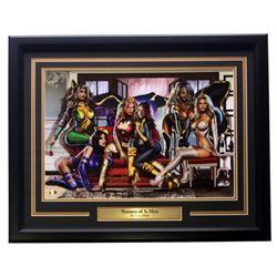 "Greg Horn Signed ""The Women of X-Men"" 20x26 Custom Framed Lithograph Display (Sports Integrity COA)"