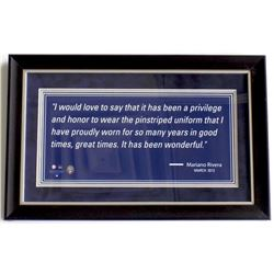 Mariano Rivera New York Yankees 9x16 Custom Framed Display