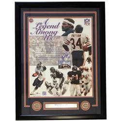 Walter Payton Signed Chicago Bears 22x27 Custom Framed Photo Display (PSA LOA)