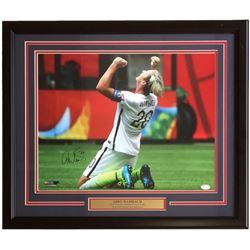 Abby Wambach Signed 22x27 Custom Framed Photo Display (JSA COA)