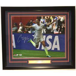 Carli Lloyd Signed 2015 World Cup Celebration 22x27 Custom Framed Photo Display (PSA COA)
