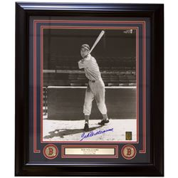 """Ted Williams Signed Boston Red Sox 24"""" x 29"""" Custom Framed Photo Display (Ted Williams COA)"""