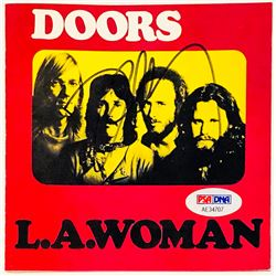 """Robby Krieger Signed """"L.A. Woman"""" CD Cover (PSA Hologram)"""