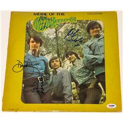"""""""More of the Monkees"""" Vinyl Album Cover Signed by (4) With Peter Tork, Davy Jones, Michael Nesmith"""