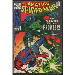 """1969 """"The Amazing Spider-Man"""" Issue #78 Marvel Comic Book"""