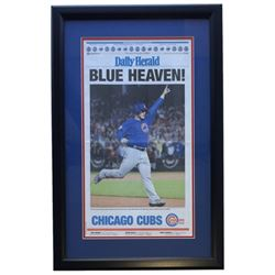 """Chicago Cubs Daily Herald """"Blue Heaven!"""" 18x28 Custom Framed Newspaper Display"""
