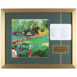 "Leroy Neiman ""The 16th at Augusta National"" 17.5x22 Custom Framed Print Display with Original August"