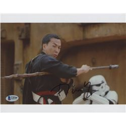 "Donnie Yen Signed ""Rogue One: A Star Wars Story"" 8x10 Photo (Beckett COA)"