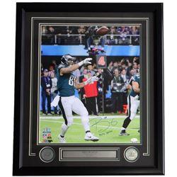 Trey Burton Signed Philadelphia Eagles 22x27 Custom Framed Photo Display (JSA COA)