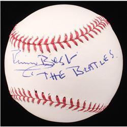 """Pete Best Signed OML Baseball Inscribed """"THE BEATLES"""" (Beckett COA)"""