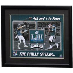 Trey Burton  Nick Foles Philadelphia Eagles Superbowl LII 22x27 Custom Framed Photo Display