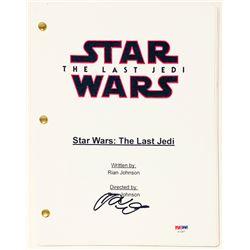 """Adam Driver Signed """"Star Wars: The Last Jedi"""" Full Movie Script (PSA COA)"""