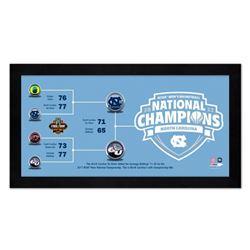 "North Carolina Tar Heels ""Final Four"" 7"" x 13"" Custom Framed Photo Display"