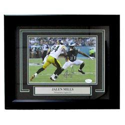 Jalen Mills Signed Philadelphia Eagles 14x17 Custom Framed Photo (JSA COA)