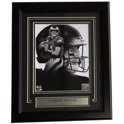 Carson Wentz Philadelphia Eagles 14x17 Custom Framed Photo Display