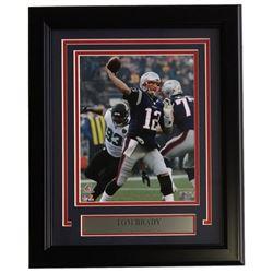 Tom Brady Framed 14x17 New England Patriots Custom Framed Photo Display