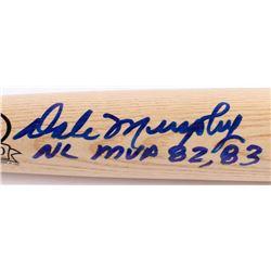 Dale Murphy Signed Rawlings Custom Engraved Big Stick Adirondack Professional Model Baseball Bat Ins