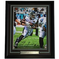 Leonard Fournette Signed LE Jaguars 22x27 Custom Framed Photo Display (Panini COA)