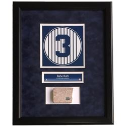 Babe Ruth Framed 16x20 New York Yankees Stadium Monument Park Brick Display (Steiner COA)