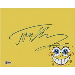 "Tom Kenny Signed ""SpongeBob"" 8x10 Photo (Beckett COA)"