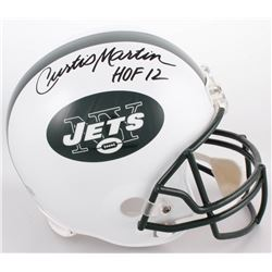 "Curtis Martin Signed New York Jets Full-Size Helmet Inscribed ""HOF 12"" (Radtke COA)"