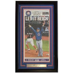 Chicago Cubs 18x30 Custom Framed 2016 World Series Champions Tribune Reign Newspaper Page Display