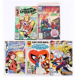 """Lot of (5) 1985-1990 """"The Amazing Spider-Man"""" Marvel Comic Books"""